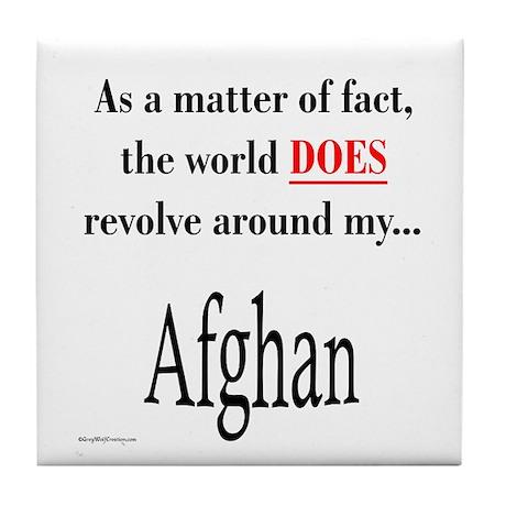 Afghan World Tile Coaster