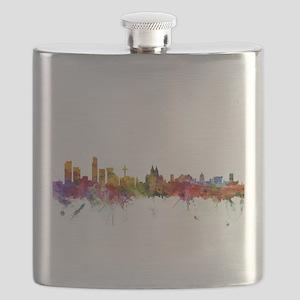 Liverpool England Skyline Flask
