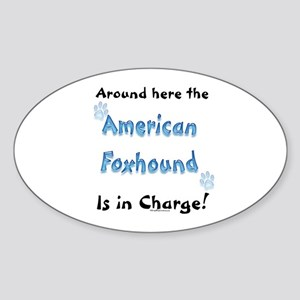 Am. Foxhound Charge Oval Sticker