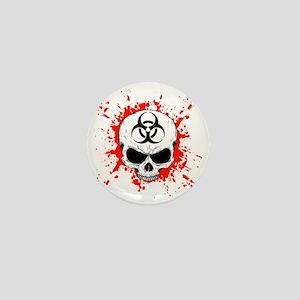 Zombie Hunter 3 white Mini Button