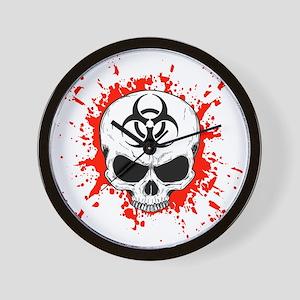 Zombie Hunter 3 white Wall Clock