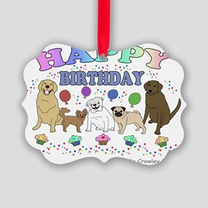 HAPPYBDAYPETS Picture Ornament