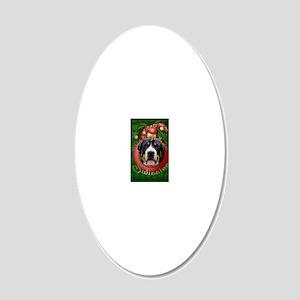 DeckHallsSwissies 20x12 Oval Wall Decal