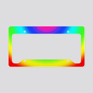 Rainbow Comicbook License Plate Holder