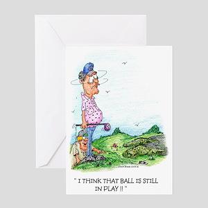 Still in Play Golf Greeting Card