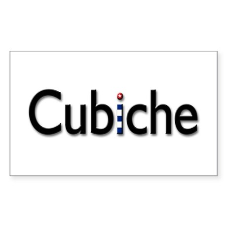 Cubiche Rectangle Sticker