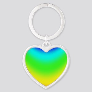 Rainbow-Cylinder Heart Keychain