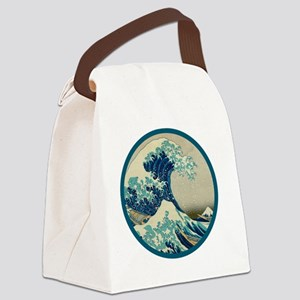 tsunami circulo Canvas Lunch Bag