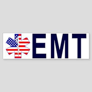 HAT US FLAG STAR EMT Sticker (Bumper)