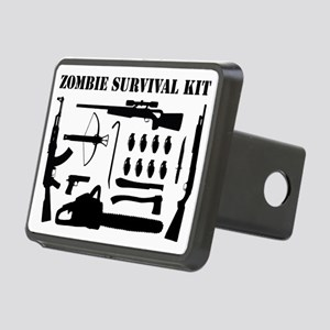 Zombie Survival Kit Rectangular Hitch Cover