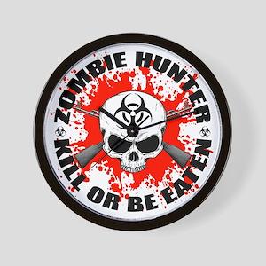 Zombie Hunter 1 Wall Clock
