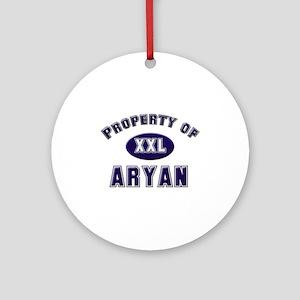 Property of aryan Ornament (Round)