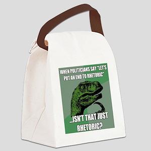 rhetoric Canvas Lunch Bag