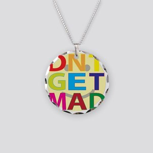 DntGetMadsmiley Necklace Circle Charm