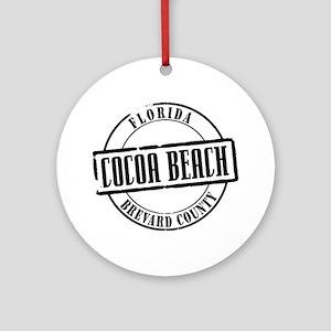 Cocoa Beach Title W Round Ornament
