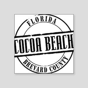 """Cocoa Beach Title W Square Sticker 3"""" x 3"""""""