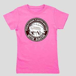 Pig Black Leg Black Burst- Brown Girl's Tee