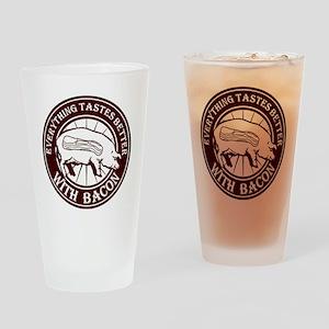 Pig Black Leg Black Burst- Brown Drinking Glass