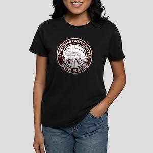 Pig Black Leg Black Burst- Br Women's Dark T-Shirt