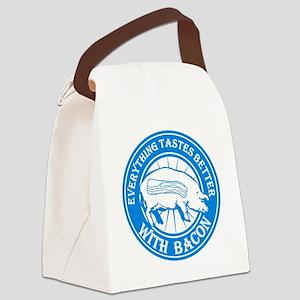Pig Black Leg Black Burst- Lt Blu Canvas Lunch Bag