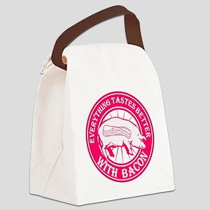 Pig Black Leg Black Burst- Pink Canvas Lunch Bag