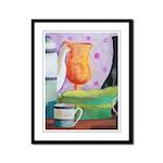 Bottlescape II - Orange Green Framed Panel Print