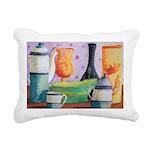 Bottlescape II Abstract Rectangular Canvas Pillow