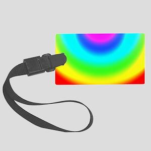 FF-Rainbow-Vignette Large Luggage Tag