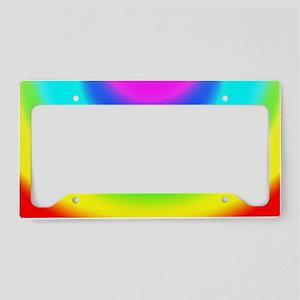 FF-Rainbow-Vignette License Plate Holder