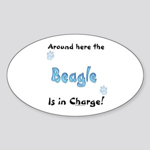 Beagle Charge Oval Sticker
