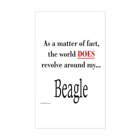 Beagle World Rectangle Sticker