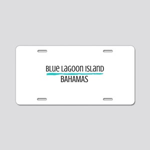 Blue Lagoon Aluminum License Plate