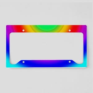 Rainbow-Solar-Comicbook License Plate Holder