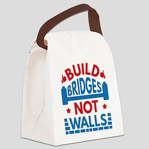 Build Bridges Not Walls Canvas Lunch Bag