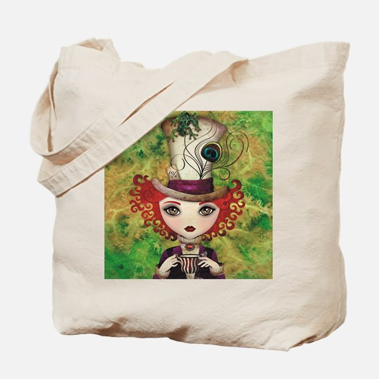 Lady Hatter Tote Bag