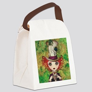 Lady Hatter Canvas Lunch Bag