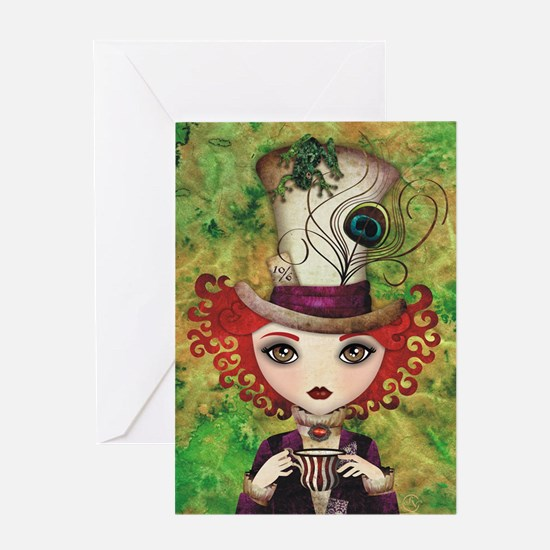 Lady Hatter Greeting Card