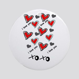 i love you hearts Ornament (Round)