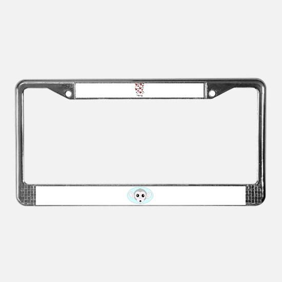 i love you hearts License Plate Frame