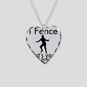 fence Necklace Heart Charm