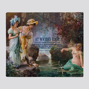 1 A COVER -ZATZKA-AWaterIdyll Throw Blanket