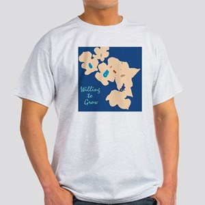 willing to Grow Floral Light T-Shirt