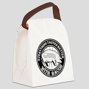Pig Black Leg Black Burst- Black Canvas Lunch Bag