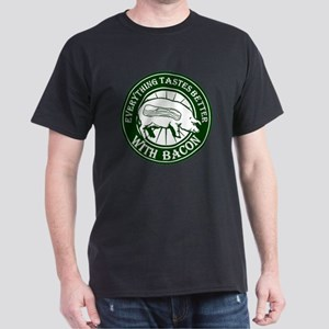Pig Black Leg Black Burst- Green Dark T-Shirt