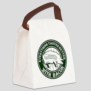Pig Black Leg Black Burst- Green Canvas Lunch Bag