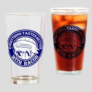 Pig Black Leg Black Burst- Blue Drinking Glass