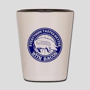 Pig Black Leg Black Burst- Blue Shot Glass