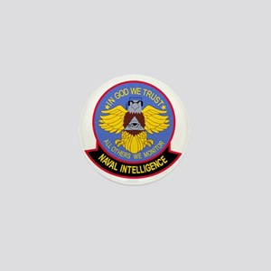 US NAVAL INTELLIGENCE Military Patch I Mini Button