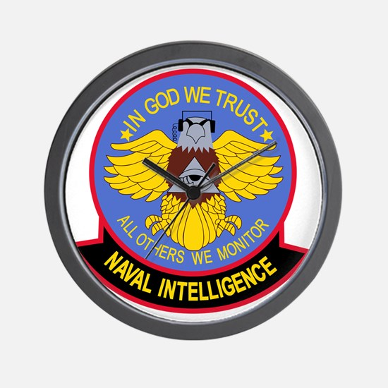 US NAVAL INTELLIGENCE Military Patch IN Wall Clock