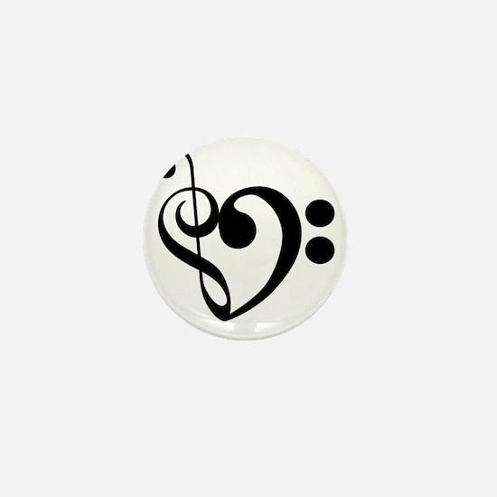 Musical-Heart Mini Button